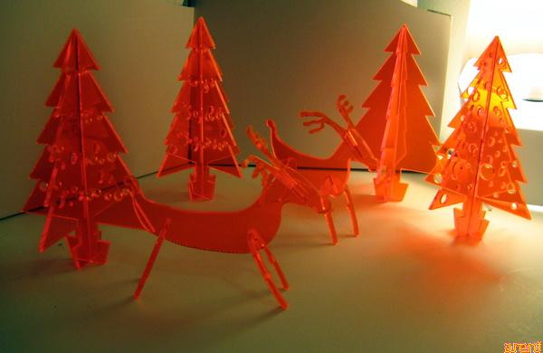 laser cut cristmas decorations